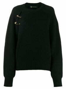 Versace safety pin jumper - Black