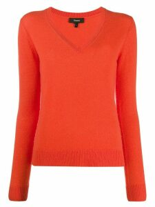 Theory v-neck cashmere jumper - ORANGE