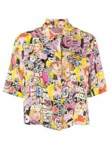 Chiara Ferragni collage print short-sleeve shirt - NEUTRALS