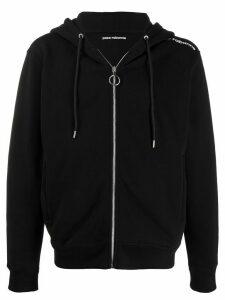 Paco Rabanne logo shoulder cardigan - Black
