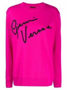 Versace Gianni Versace embroidery sweatshirt - PINK