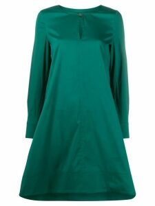 Twin-Set neck-slit midi dress - Green