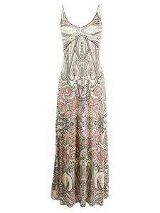 Etro paisley-print maxi slip dress - NEUTRALS