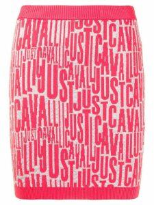 Just Cavalli all over logo skirt - PINK