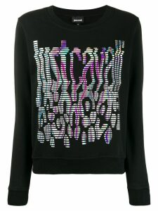 Just Cavalli color-spectrum logo sweatshirt - Black