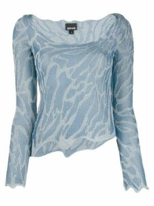 Just Cavalli metallic thread jumper - Blue