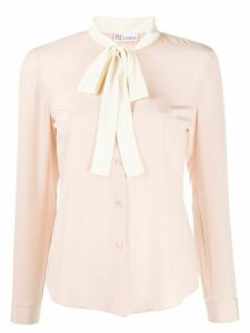RedValentino pussy-bow blouse - PINK