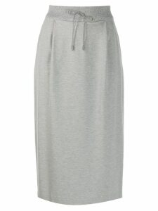 Fabiana Filippi knitted mid-lengh skirt - Grey
