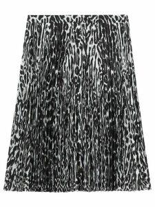 Burberry leopard print pleated skirt - Black
