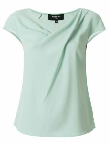 Paule Ka short-sleeve ruched T-shirt - Green