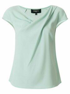 Paule Ka short-sleeve ruched T-shirt - Green