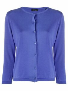 Aspesi Jersei round-neck cardigan - PURPLE