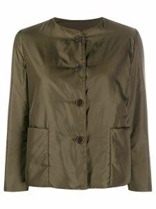 Aspesi collarless padded sateen jacket - Green