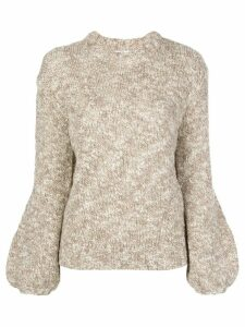Co balloon sleeve jumper - NEUTRALS