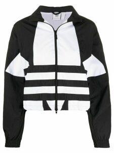 adidas colour block zipped jacket - Black