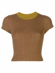 Eckhaus Latta ribbed knit top - Brown