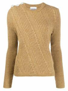 GANNI cable knit jumper - NEUTRALS