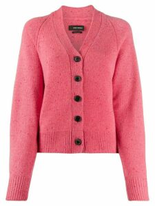 Isabel Marant speckled-knit cardigan - PINK