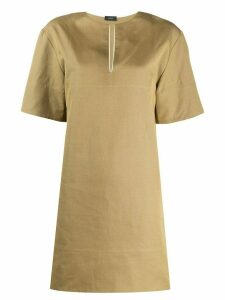 Joseph long-line tunic top - Green