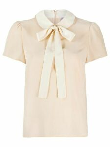 RedValentino pussybow blouse - NEUTRALS
