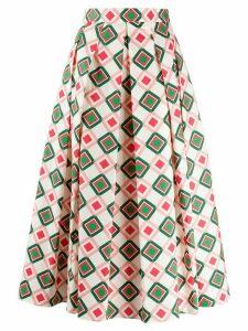Aspesi A-line printed skirt - NEUTRALS