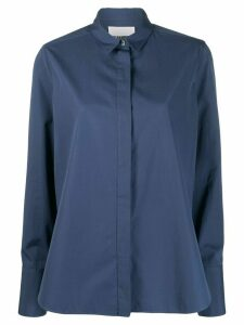 Jil Sander Francesca concealed placket shirt - Blue