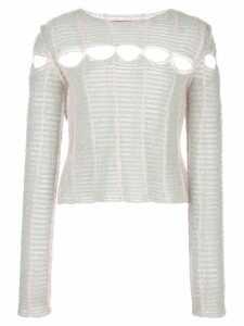 Eckhaus Latta cut out detail jumper - Grey