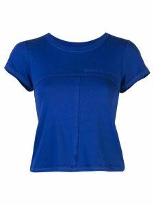 Eckhaus Latta chest logo T-shirt - Blue