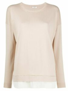 Peserico double layer jumper - NEUTRALS