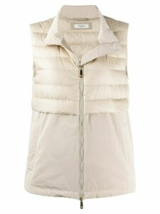 Peserico padded down gilet - NEUTRALS