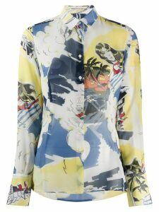 Ermanno Scervino tropical print long sleeve shirt - Yellow