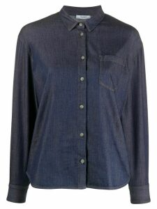 Peserico contrast stitch denim shirt - Blue