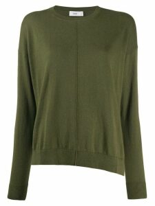 Closed round neck jumper - Green