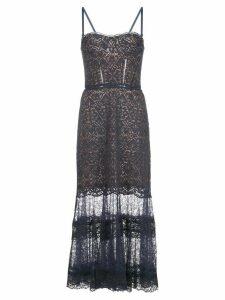 Jonathan Simkhai lace-detail midi dress - Blue
