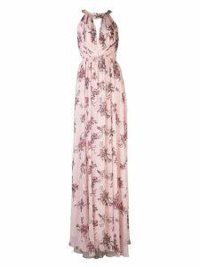 Marchesa Notte halterneck floral bridesmaid dress - PINK