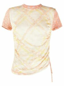 M Missoni fitted geometric patterned T-shirt - ORANGE