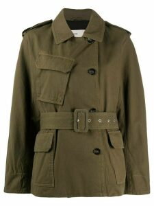 Closed double breasted military jacket - Green