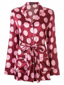 Dolce & Gabbana large polka-dot print shirt - Red