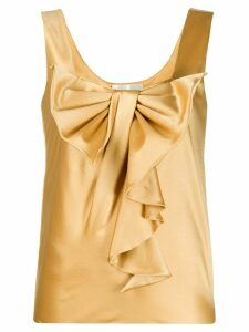 Alberta Ferretti ruffle bow-detail blouse - GOLD