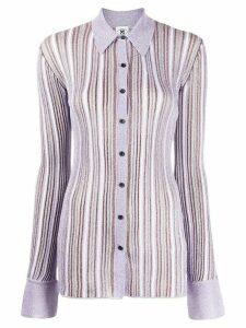 M Missoni fitted striped shirt - PURPLE