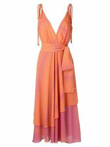 Olympiah Begonia printed dress - ORANGE