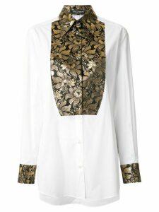 Dolce & Gabbana brocade tuxedo shirt - White