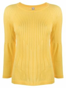 Antonio Marras ribbed flared-hem jumper - Yellow