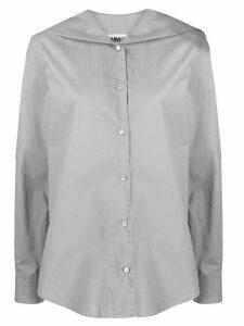 Mm6 Maison Margiela logo patch shirt - Grey