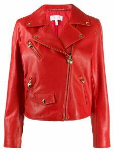 Escada cropped biker jacket - Red