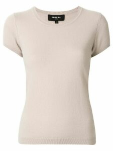 Paule Ka short-sleeve fitted jumper - NEUTRALS
