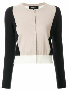 Paule Ka colour-block fitted cardigan - NEUTRALS