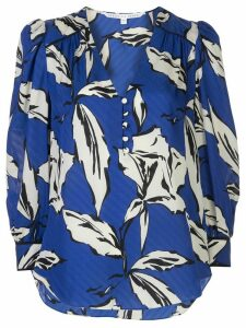 Veronica Beard leaf print blouse - Blue