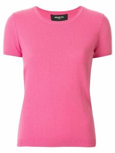 Paule Ka knitted short sleeved top - PINK