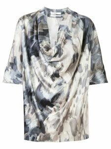 Co silk draped blouse - Grey